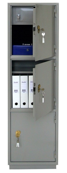 КБ-033Т Шкаф бухгалтерский с трейзером, 3 отделения