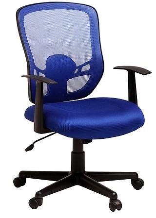 Кресло офисное College 420-1C-1 сетка синяя