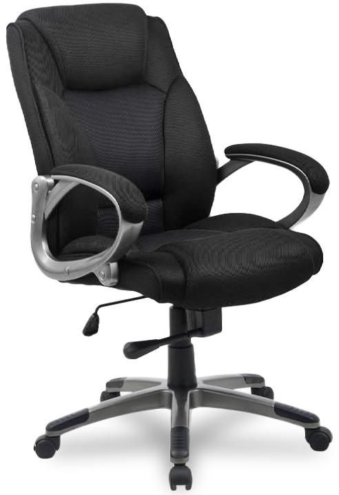 Кресло руководителя HLC-0487 ткань черная College