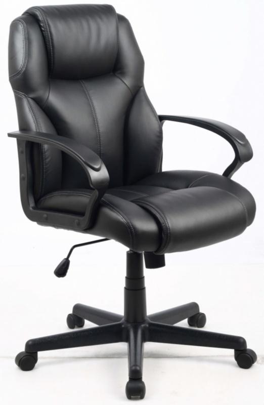 Кресло руководителя HLC-0601 черная иск. кожа College