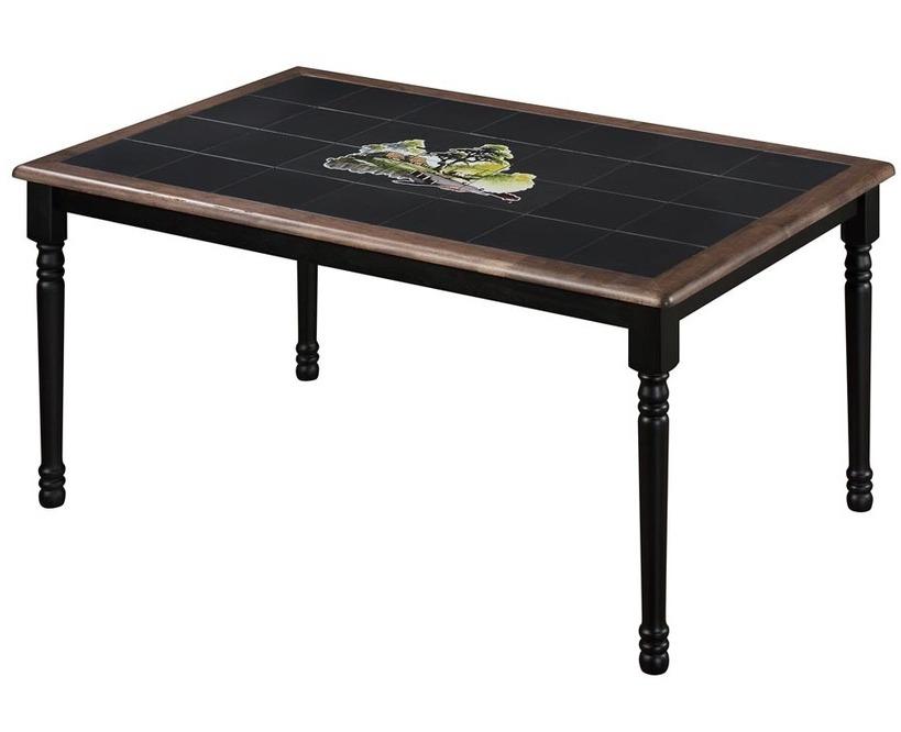 Стол обеденный CT 3045 с плиткой и рисунком Дерево, венге