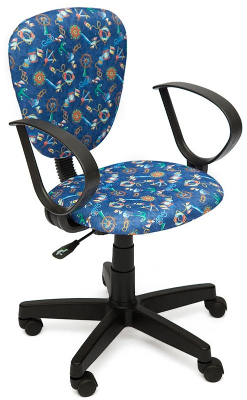 Кресло СН413 ткань Якоря на синем