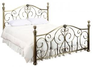 Кровать BD-602 Double Bed 140*200 античная медь