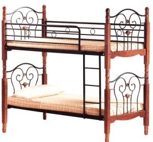 Кровать 608 двухярусная Single Bed 90*200