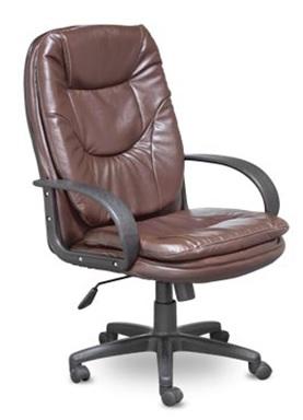 Кресло руководителя CH-686 экокожа коричневая