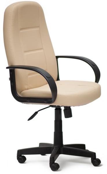Кресло руководителя 747 экокожа бежевая