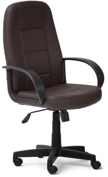 Кресло руководителя 747 экокожа коричневая