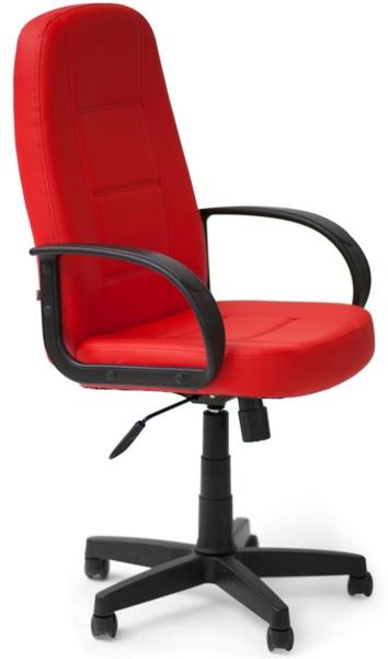 Кресло руководителя 747 экокожа красная