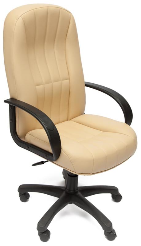 Кресло руководителя 767 экокожа бежевая