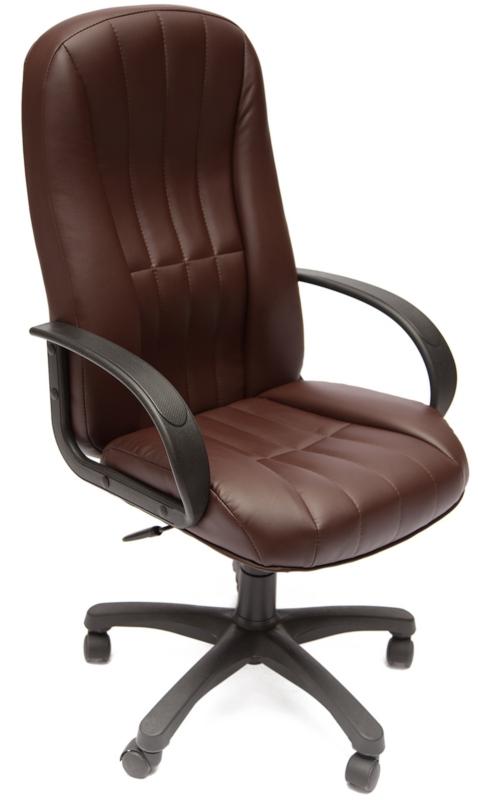 Кресло руководителя 767 экокожа коричневая