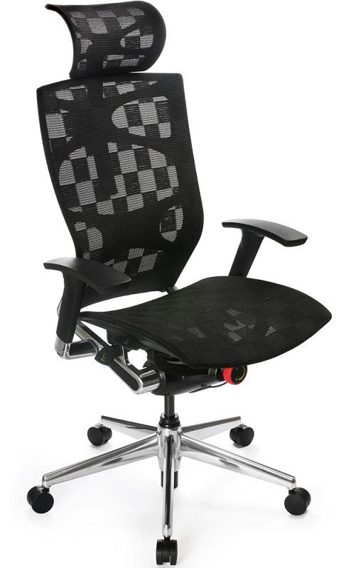Кресло руководителя 811 черное эргономичная сетка