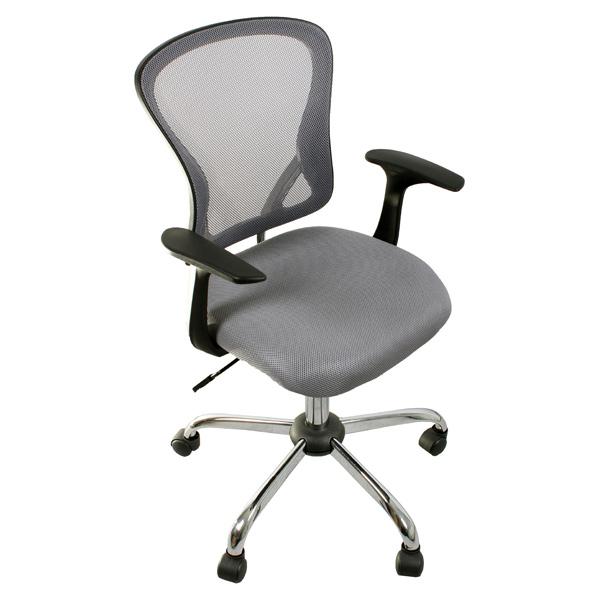 Кресло офисное College H-8369F сетка серая