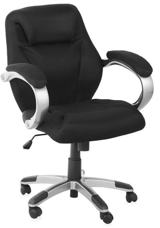 Кресло руководителя H-8703F-2A ткань черная College