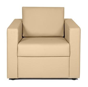 Кресло для отдыха Симпл экокожа черная Терра 118