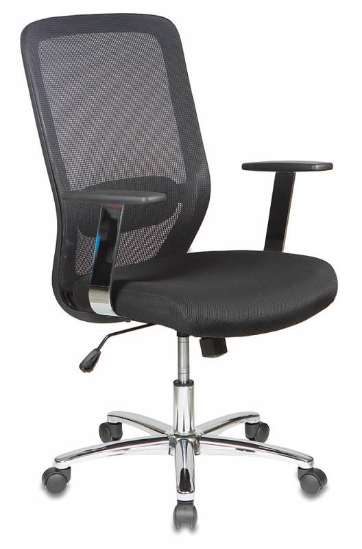 Кресло офисное CH-899SL черная сетка, сиденье черное TW-11, хром