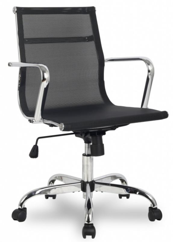 Кресло руководителя College H-966F-2 сетка черная