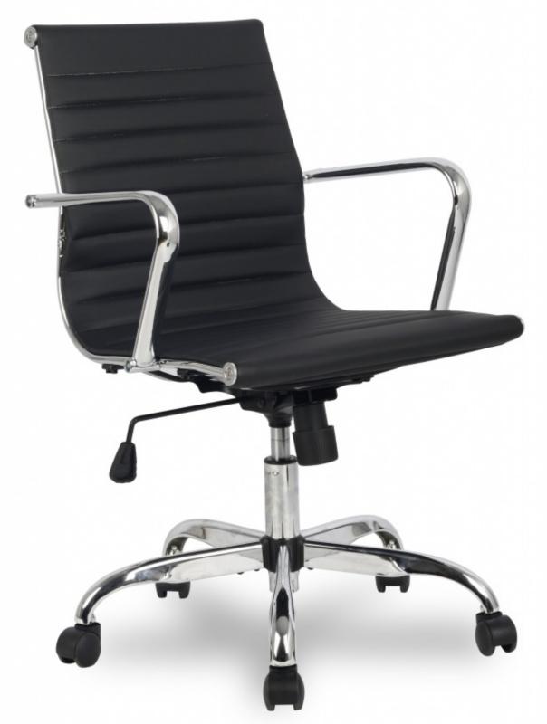 Кресло офисное H-966L-2 черная иск. кожа College