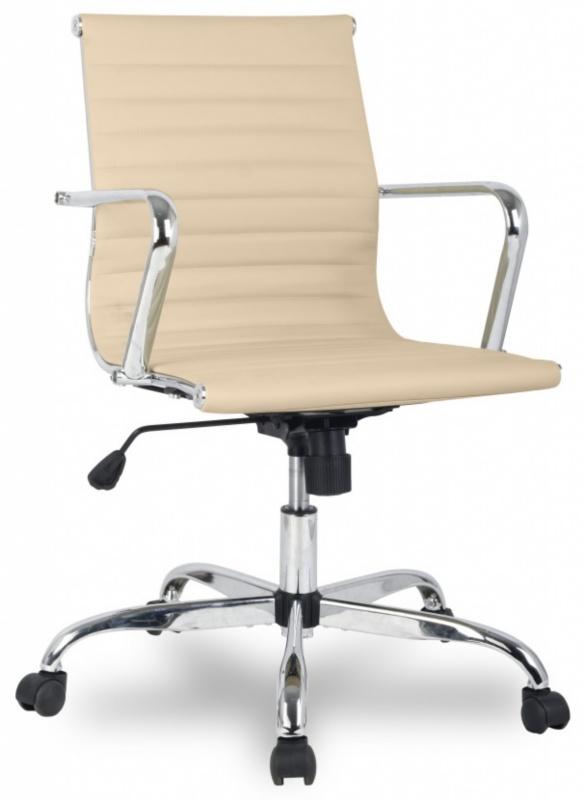 Кресло офисное H-966L-2 бежевая иск. кожа College