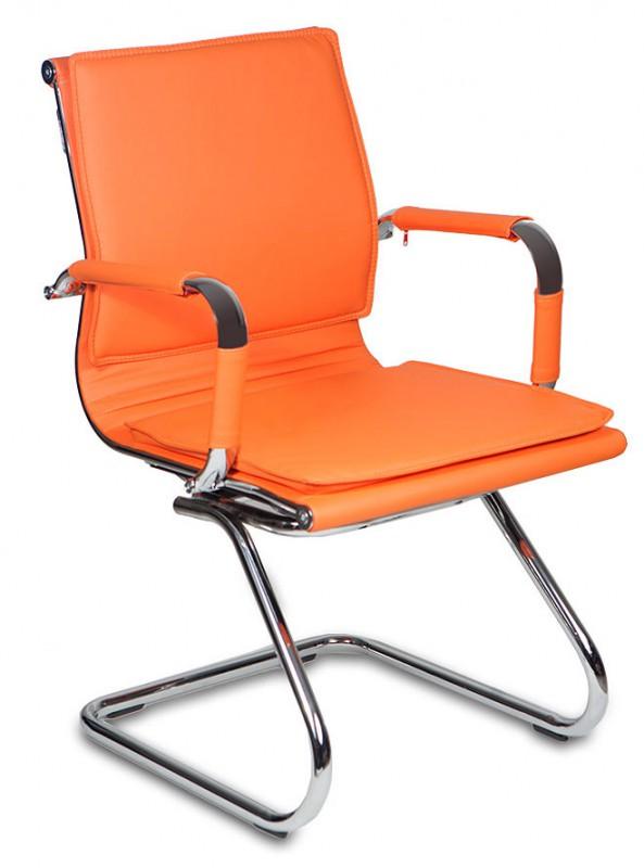 Кресло посетителя CH-993-Low-V оранжевая иск. кожа