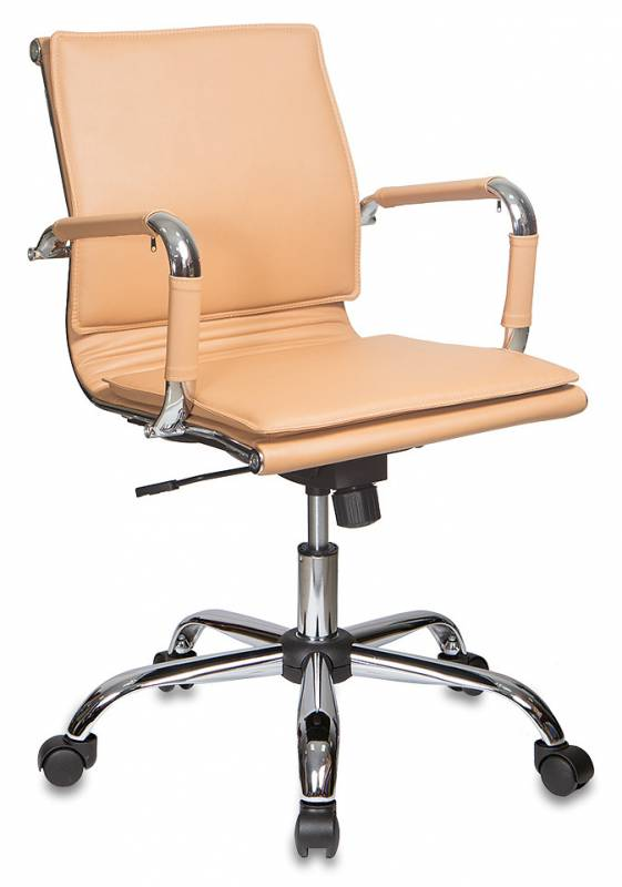 Кресло офисное CH-993-Low светло-коричневая иск. кожа