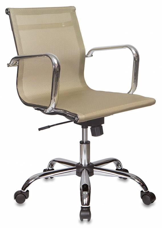 Кресло руководителя CH-993-Low золотая сетчатая ткань