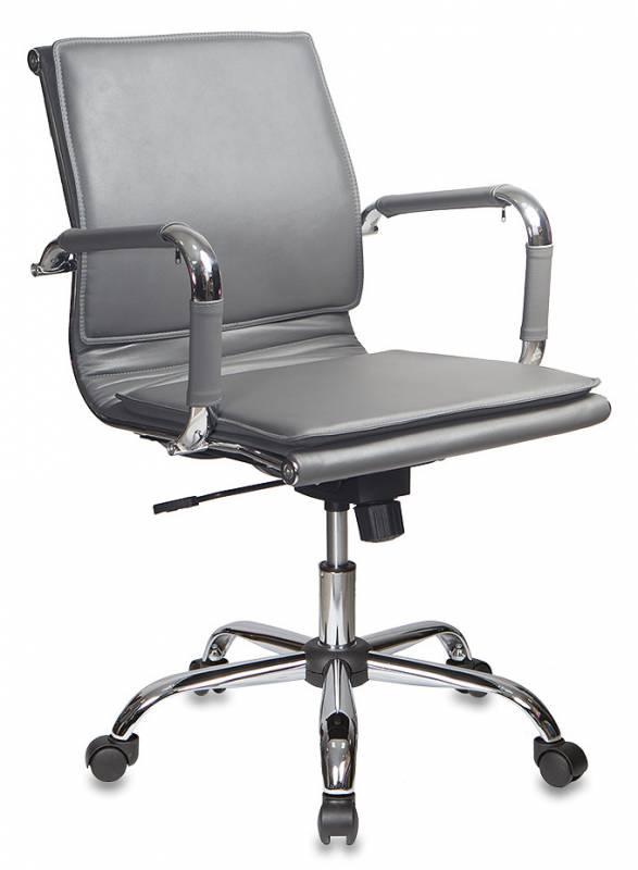 Кресло офисное CH-993-Low серая иск. кожа