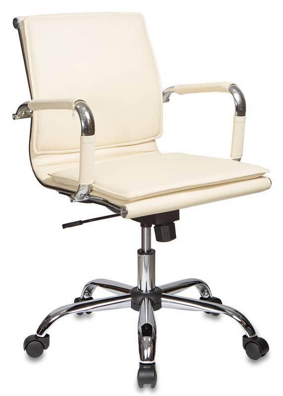 Кресло офисное CH-993-Low иск. кожа слоновая кость