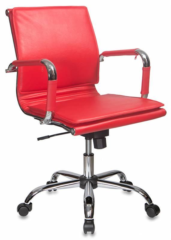 Кресло офисное CH-993-Low красная иск. кожа