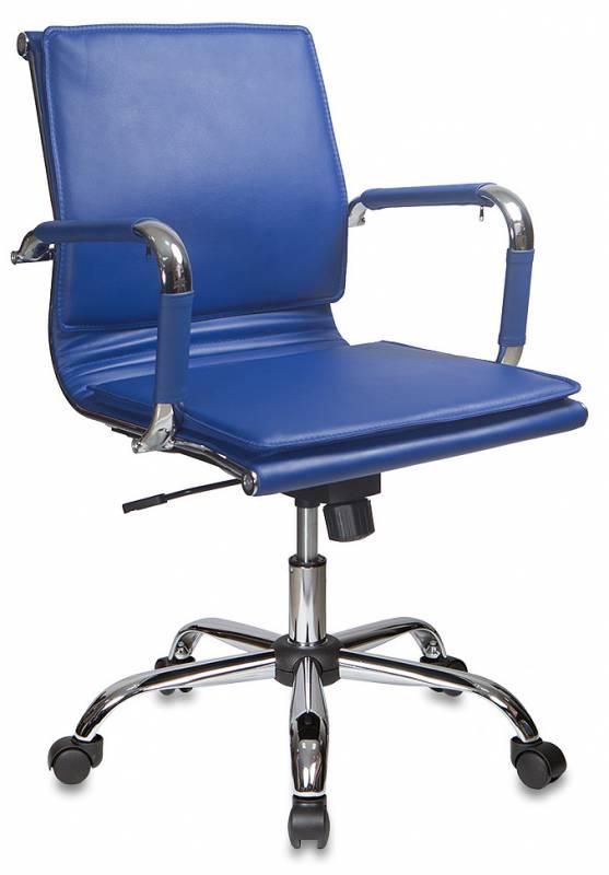 Кресло офисное CH-993-Low синяя иск. кожа
