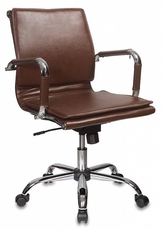 Кресло офисное CH-993-Low коричневая иск. кожа