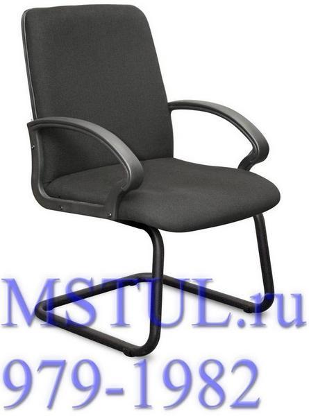 Кресло посетителя K01 ALFA Альфа (К01) текстиль, полозья