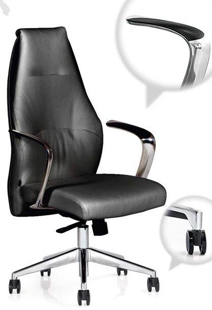 Кресло руководителя Basic MY-6002 кожа черная