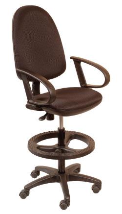 Кресло офисное CH-3002 ткань, упор для ног, высокий газлифт