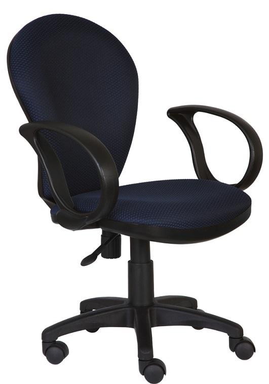 Кресло офисное CH-687AXSN черный пластик, синяя ткань