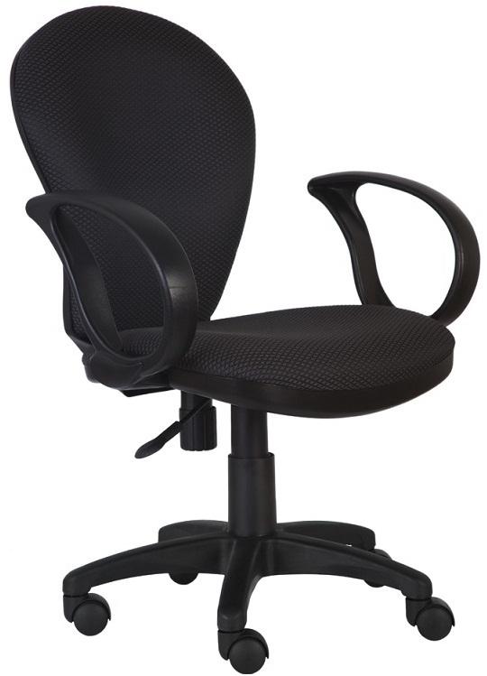 Кресло офисное CH-687AXSN черный пластик, серая ткань