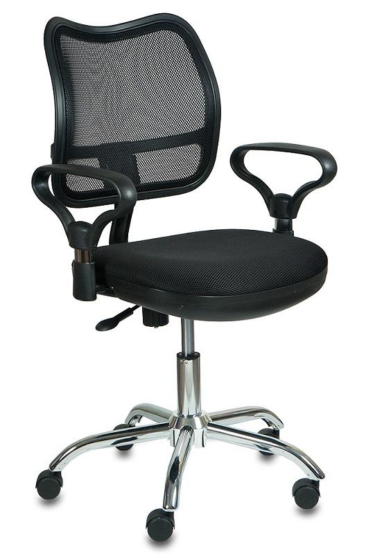 Кресло офисное CH-799SL черная сетка и сиденье, хром