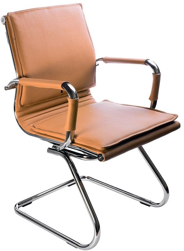 Кресло посетителя CH-993-Low-V светло-коричневая иск. кожа