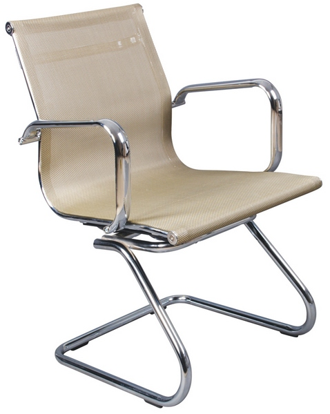 Кресло посетителя CH-993-Low-V золотая сетчатая ткань