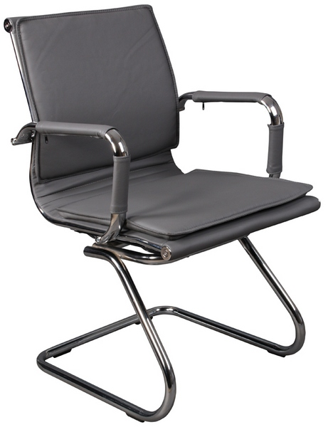 Кресло посетителя CH-993-Low-V серая иск. кожа