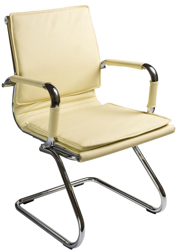 Кресло посетителя CH-993-Low-V цвет слоновой кости иск. кожа