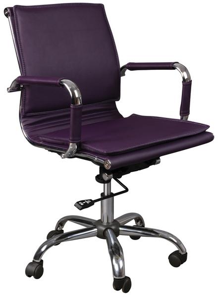 Кресло офисное CH-993-Low фиолетовая иск. кожа