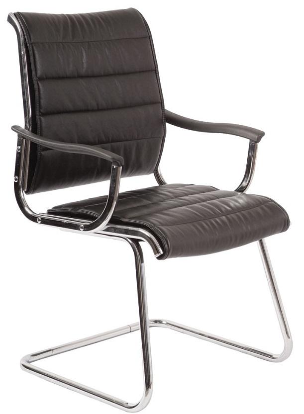 Кресло посетителя CH-994AV черная иск. кожа