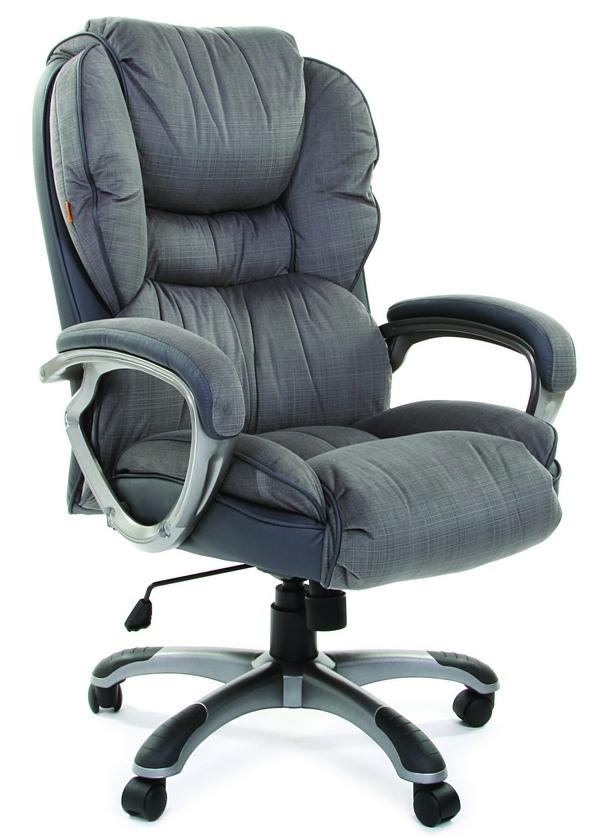 Кресло руководителя CH-434 серая ткань, Chairman 434