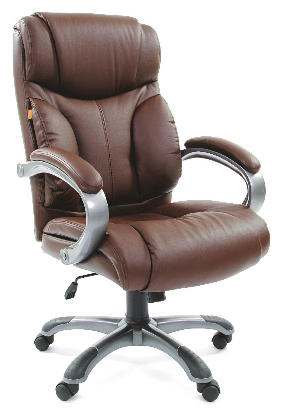 Кресло руководителя CH-435 коричневая кожа, Chairman 435