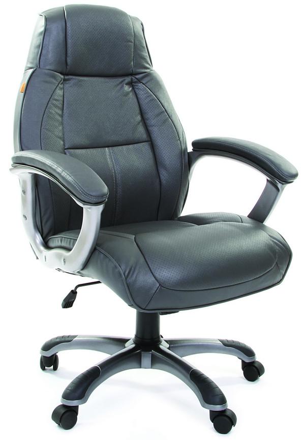 Кресло руководителя CH-436 серая кожа, Chairman 436