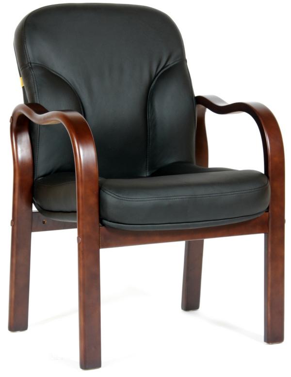CH-658 Кресло посетителя CHAIRMAN 658 кожа черная