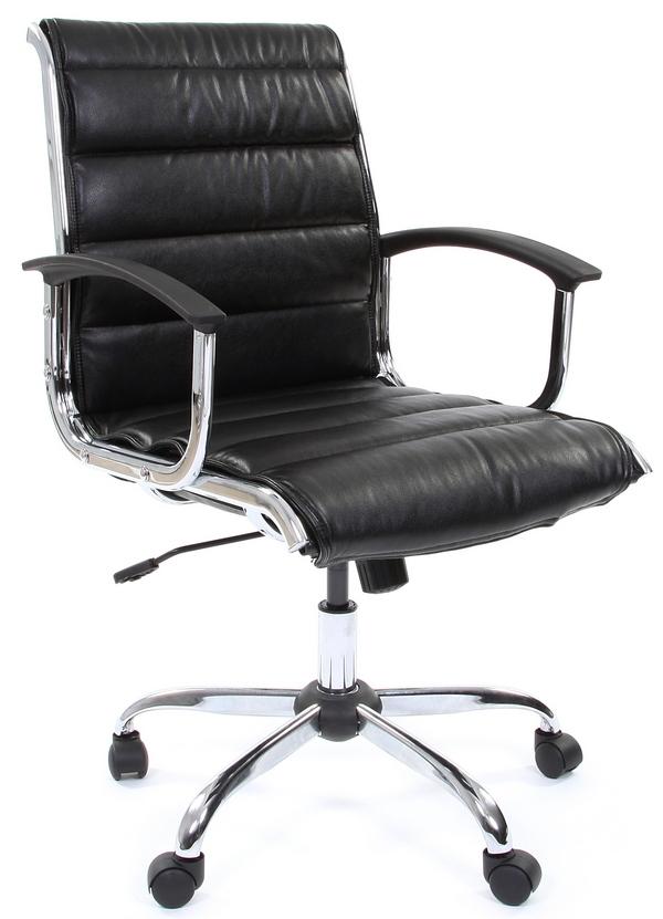 Кресло офисное CH-760M черная экокожа, Chairman 760М