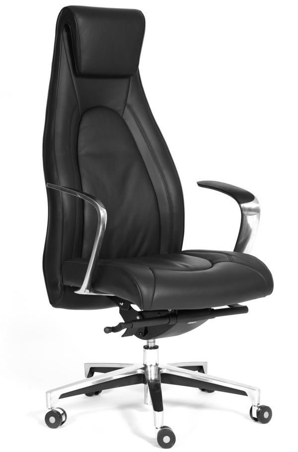 Кресло руководителя Фуга Chairman FUGA кожа черная