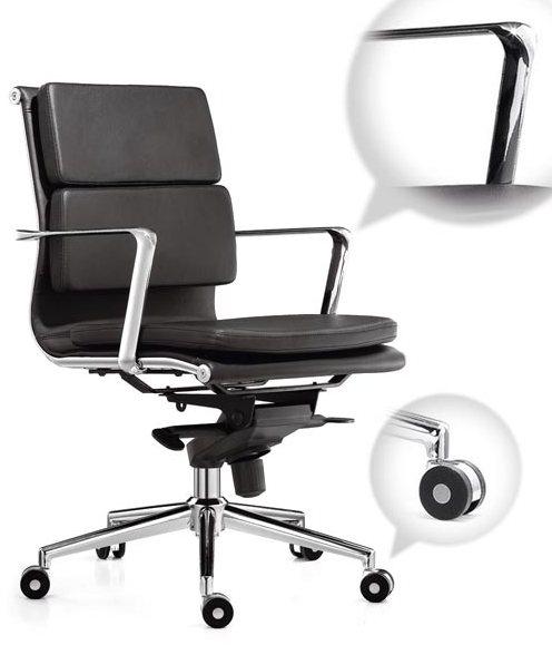 Кресло офисное Camaro (M) C1031B экокожа черная