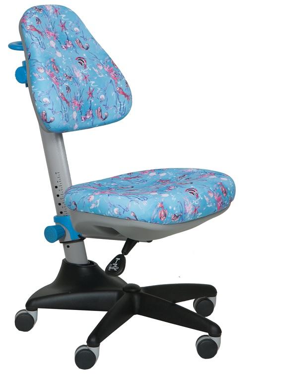 Кресло детское KD-2 ткань аквариум на голубом